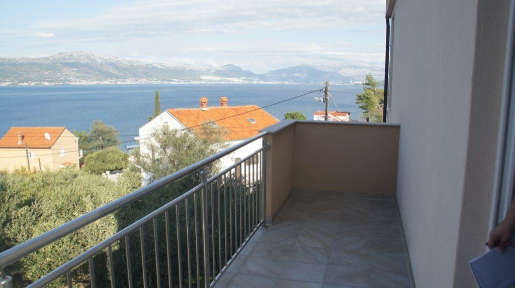 Blick vom nördlichen Balkon (Zugang vom Schlafzimmer)