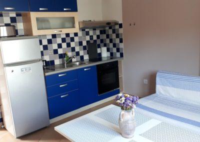 Apartment Kastela Küche und Wohnbereich