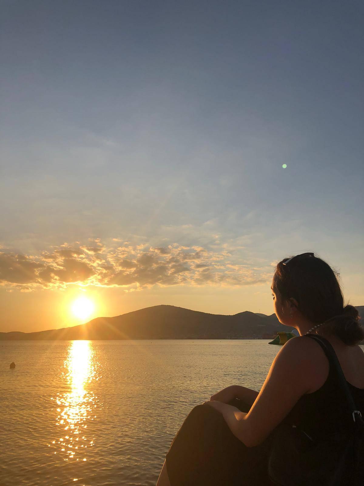 Sonnenuntergang am Strand in Trogir